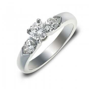BRILLIANT-CUT DIAMOND ENGAGEMENT RING RIN0059