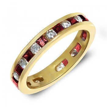 DIAMOND & RUBY ETERNITY RING RIN0012