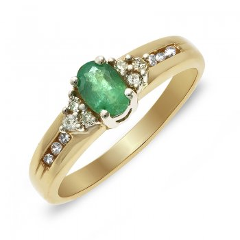 DIAMOND & EMERALD RING RIN0033