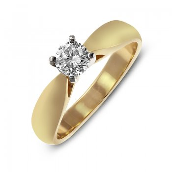 BRILLIANT-CUT DIAMOND ENGAGEMENT RING RIN0061