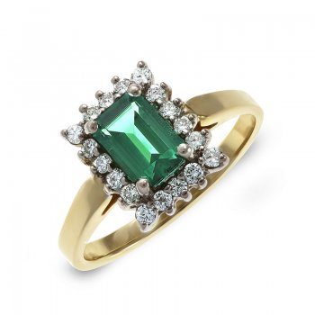 DIAMOND & EMERALD RING RIN0040