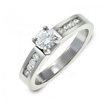BRILLIANT-CUT DIAMOND ENGAGEMENT RING RIN0042