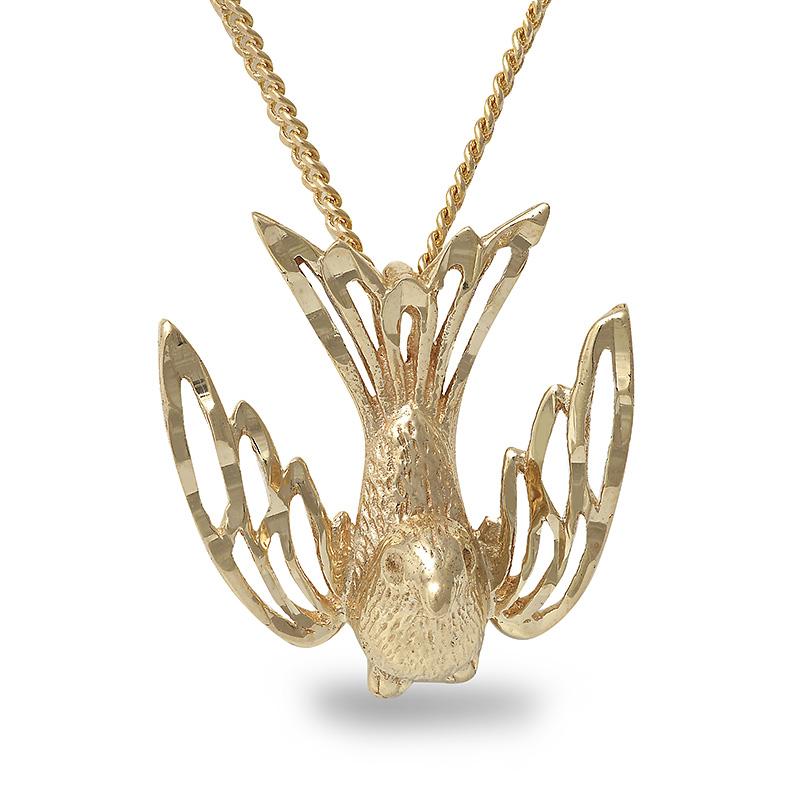 10k yellow gold bird pendant 18 chain pen0003 18500 10k yellow gold bird pendant 18 mozeypictures Gallery