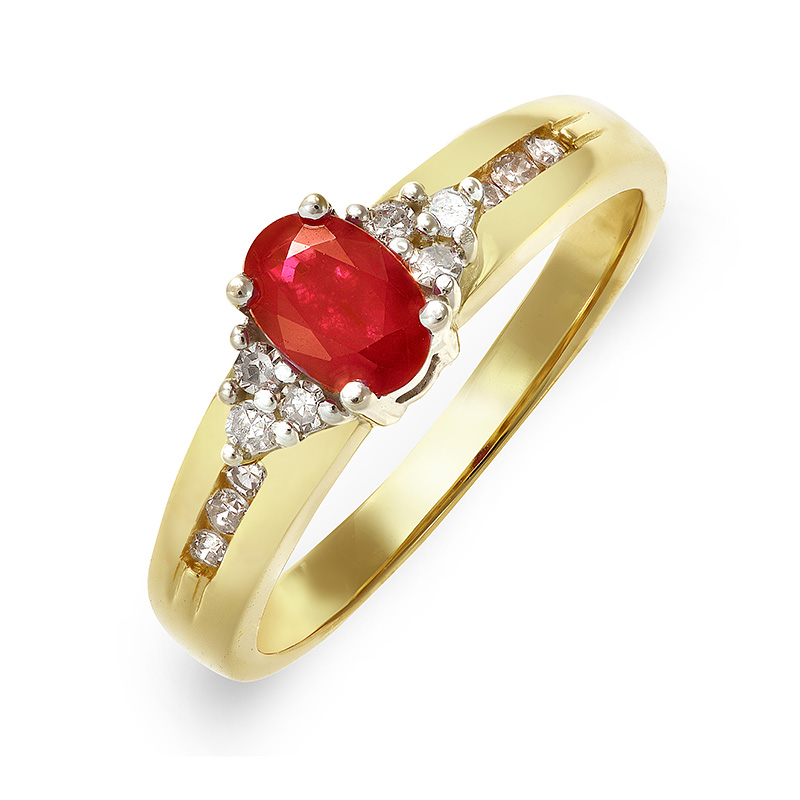 DIAMOND & RUBY RING RIN0063