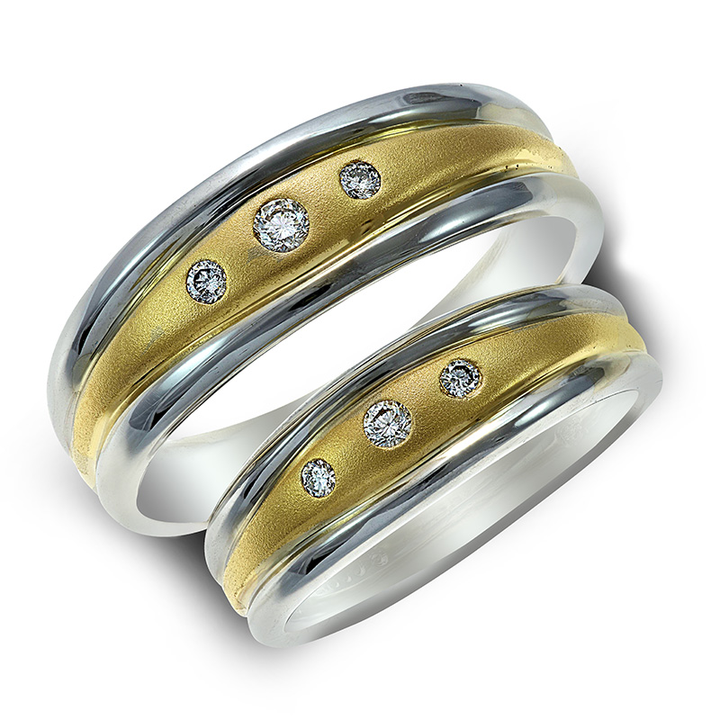 LADIES' & MEN'S 10K WEDDING BAND SET RIN0077-RIN0078