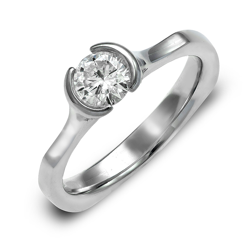 DIAMOND SOLITAIRE ENGAGEMENT RING RIN0098